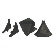Комплект заглушек для плинтуса, черный 23-619