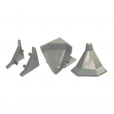 Комплект заглушек вертикальный Квадро серебро