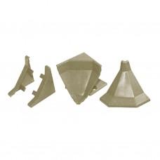 Комплект заглушек для плинтуса, мрамор бразильский 23-6000