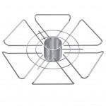 Полка для бокалов (350*50) d-50мм SOLLER