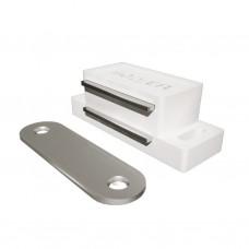 Магнит мебельный L-60 h-15 белый SOLLER 75/900