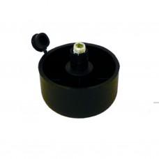 Опора мебельная пластмассовая 50*27мм (L14)
