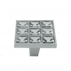 Ручки мебельные 605В-16 хром (со стразами)