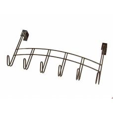 Вешалка на дверь 6-ти крючковая коричневая (12.4)