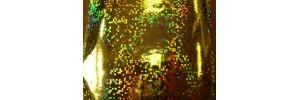 Пленка самоклеящаяся голограмма 0,45*8м М015В желтая
