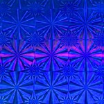Пленка самоклеящаяся голограмма 0,45*8м М021D синяя