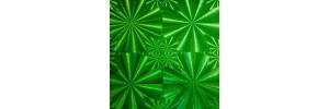 Пленка самоклеящаяся голограмма 0,45*8м М021С зеленая