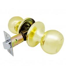 Ручка-защелка /кноб/ межкомнатная без ключа и фиксатора ЗШ-05 BKPS PB золото
