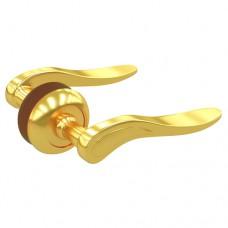 Комплект дверных ручек ZY-509 GP SOLLER золото  /24/