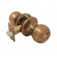Ручка-защелка /кноб/  межкомнатная SOLLER с ключем и фиксатором B 607/6072 ETAВ бронза