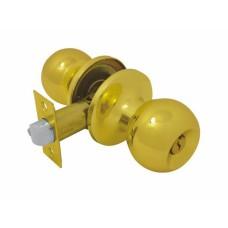 Ручка-защелка /кноб/ межкомнатная SOLLER с ключем и фиксатором B 607/6072 ETPВ золото