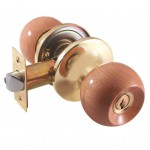 Ручка-защелка /кноб/ межкомнатная SOLLER с ключем и фиксатором 7817 ETPВ золото