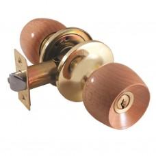 Ручка-защелка /кноб/ межкомнатная SOLLER с ключем и фиксатором 7818 ETPВ золото