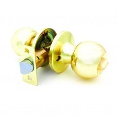 Ручка-защелка /кноб/ межкомнатная без ключа с фиксатором ЗШ-03 Эконом ВКPB золото