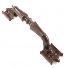 РС-100-2 коричневый глянец ручка дверная скоба (материал ЦАМ) /30/