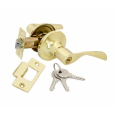Ручка-защелка межкомнатная SOLLER с ключем и фиксатором R 860 ETPB золото