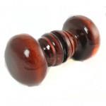 Ручка-кнопка деревянная классика большая, лак темная