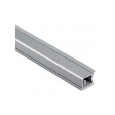 Плинтус кухонный алюминиевый (Квадро) серебро 3м
