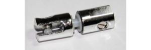 Кронштейн двусторонний внутренний для стекла, D=16мм, S=5-6(8)мм, хром, 4.05