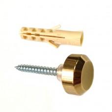 Держатель стекло/стена D=16мм, S=4-5мм, золото, 5.11