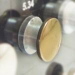 Держатель стекло/стена D=21,5мм, S=8-10мм, золото, 5.34