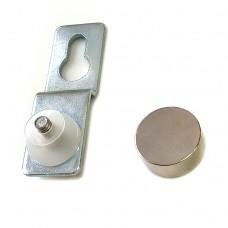 Подвеска для крепления зеркала сквозная, D=16мм, S=4-5мм, хром 2.15
