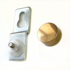 Подвеска для крепления зеркала сквозная, D=16мм, S=4-5мм, золото 2.15