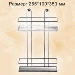 Полка прямоугольная 2 ярусная, хром ПП-2